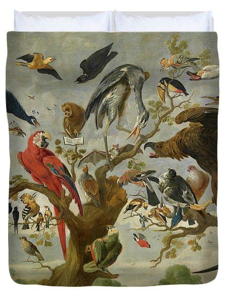 The Mockery Of The Owl Duvet Cover