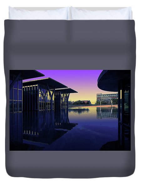 Duvet Cover featuring the photograph The Modern, Fort Worth, Tx by Ricardo J Ruiz de Porras