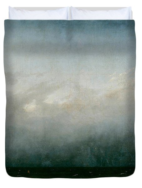 Monk By The Sea  Duvet Cover