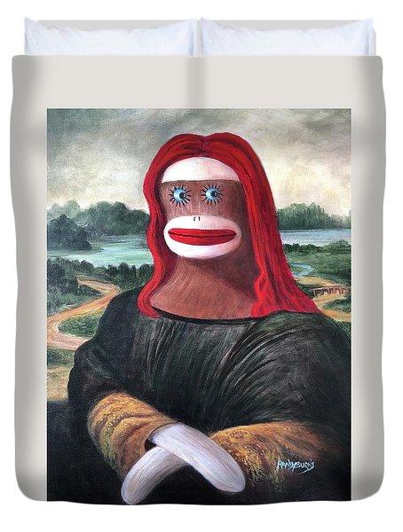 The Monkey Lisa Duvet Cover