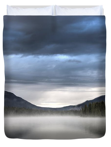 The Moods Of Fish Lake Duvet Cover