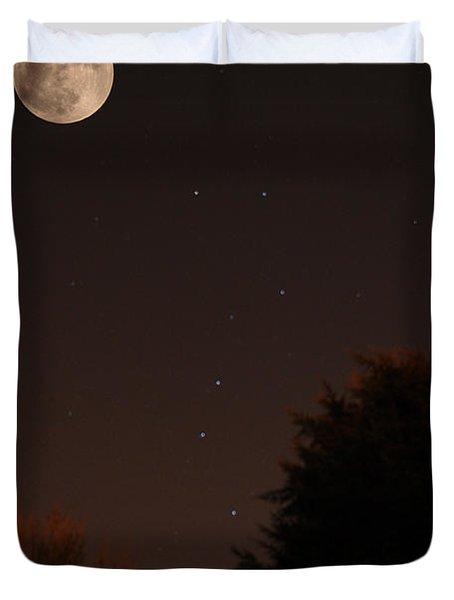 The Moon And Ursa Major Duvet Cover