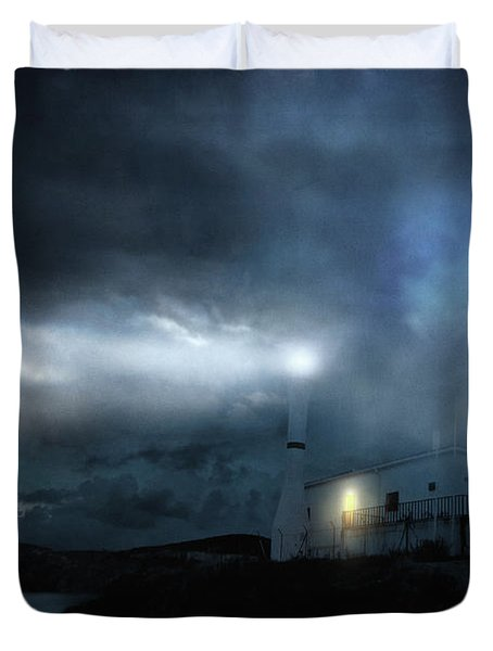 The Moon Touches Your Shoulder Duvet Cover