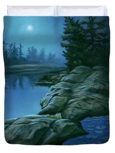 The Moonlight Hour Duvet Cover