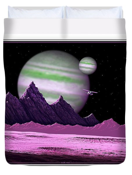 The Moons Of Meepzor Duvet Cover