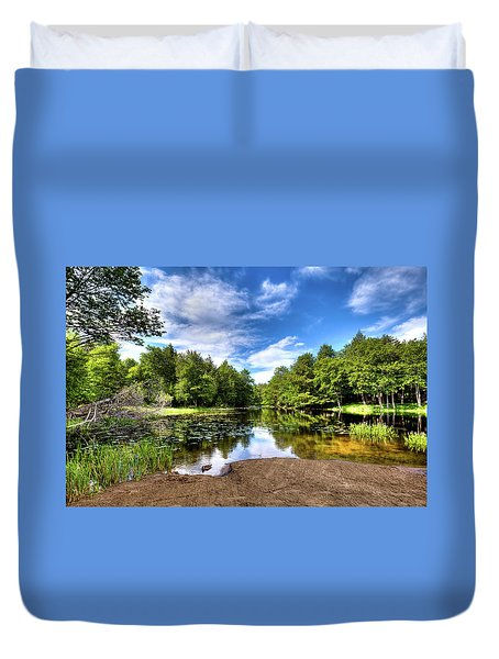 Duvet Cover featuring the photograph The Moose River At Covewood by David Patterson