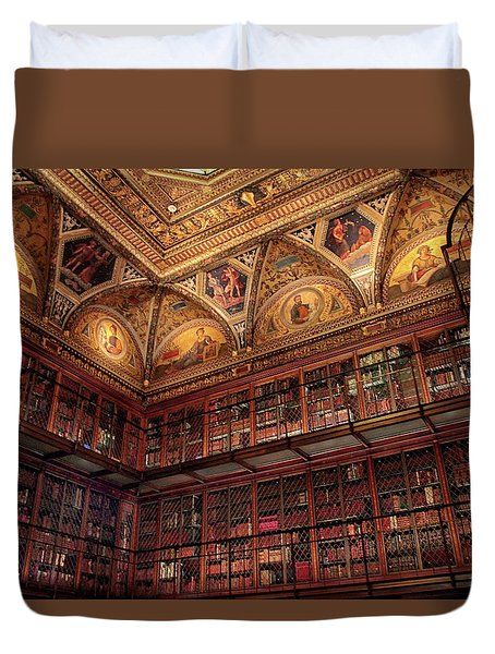 Duvet Cover featuring the photograph The Morgan Library by Jessica Jenney
