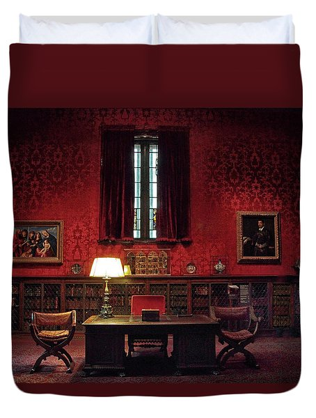 Duvet Cover featuring the photograph The Morgan Library Study by Jessica Jenney