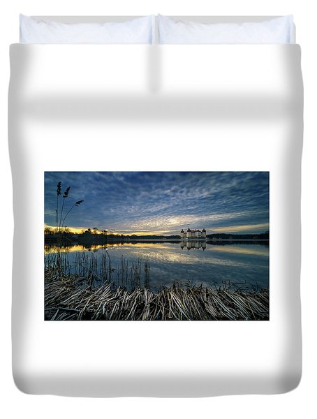 The Moritzburg Castle Is A Baroque Palace In Moritzburg In The German State Of Saxony. Saxony, Germany. Duvet Cover