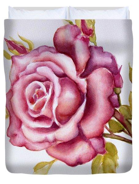 The Morning Rose Duvet Cover