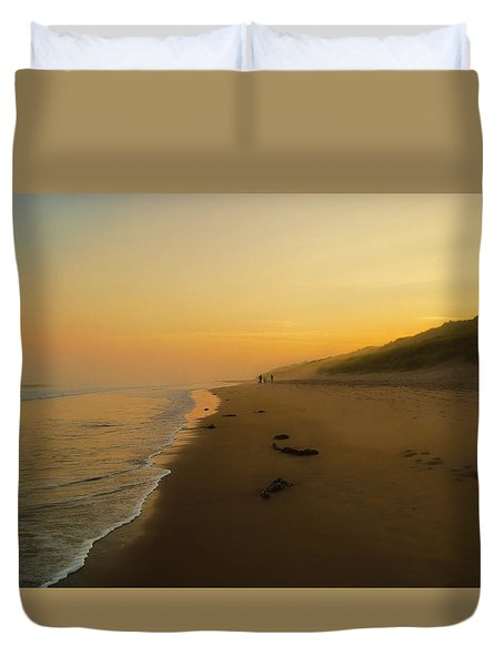 The Morning Walk Duvet Cover by Roy McPeak