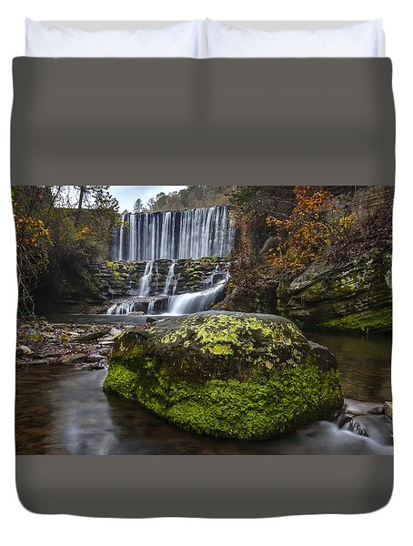 The Mossy Rock Duvet Cover