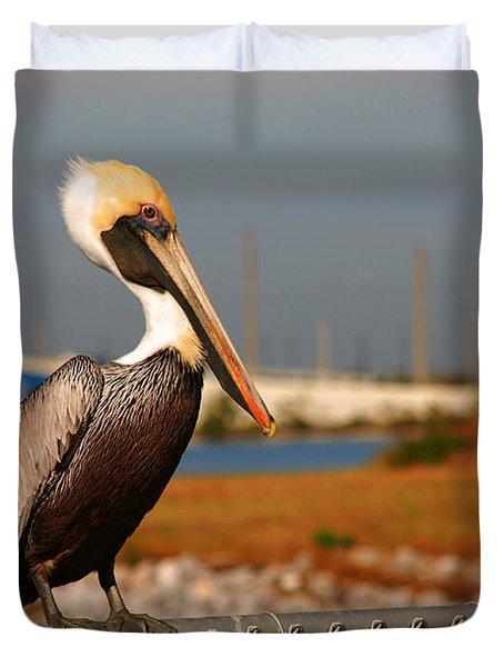 The Most Beautiful Pelican Duvet Cover by Susanne Van Hulst