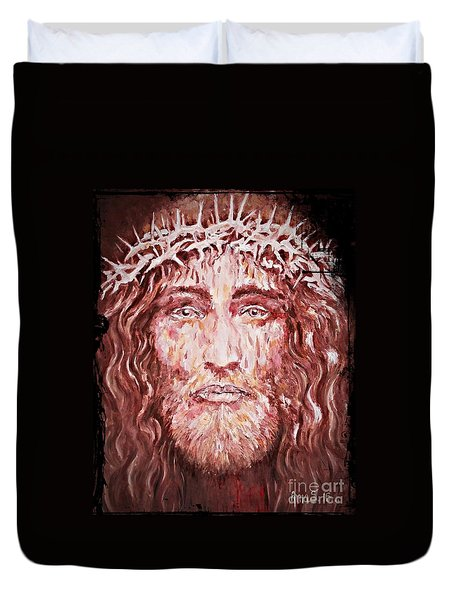 The Most Loved Jesus Christ Duvet Cover by AmaS Art