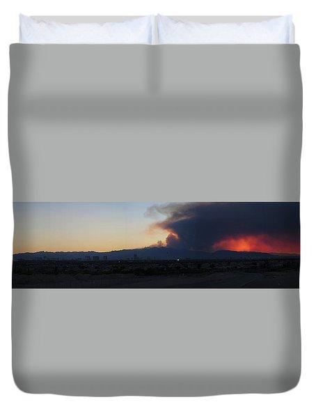 The Mount Charleston Fire Duvet Cover