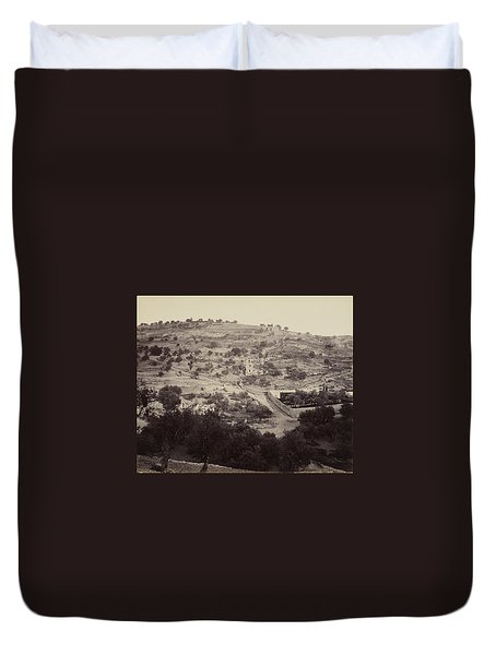The Mount Of Olives And Garden Of Gethsemane Duvet Cover
