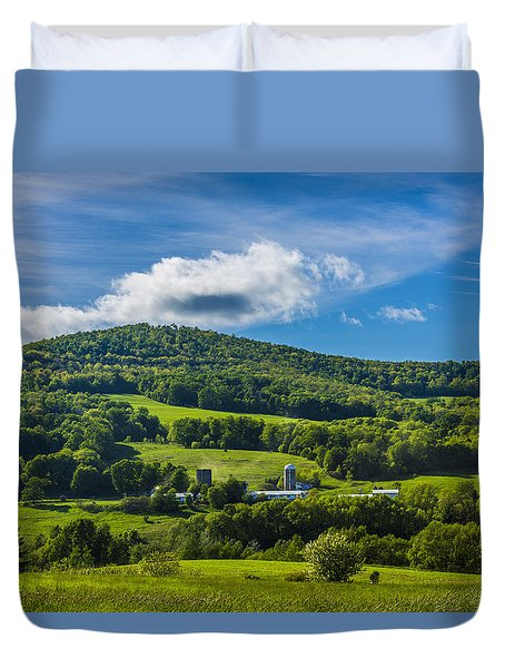 Duvet Cover featuring the photograph The Mountain And Sky Landscape by Paula Porterfield-Izzo