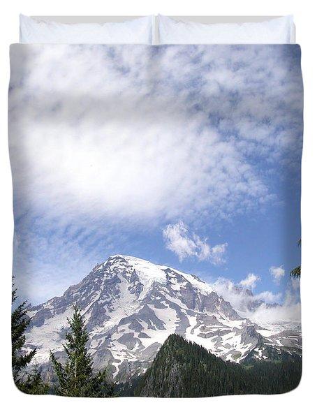The Mountain  Mt Rainier  Washington Duvet Cover
