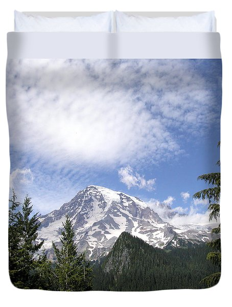 The Mountain  Mt Rainier  Washington Duvet Cover by Michael Bessler