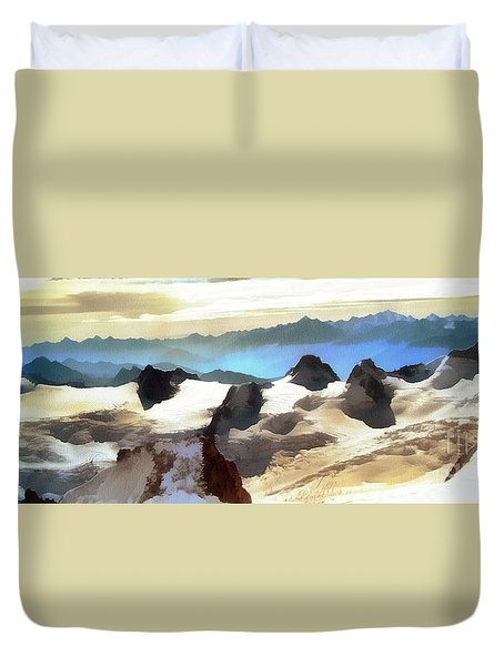 The Mountain Paint Duvet Cover