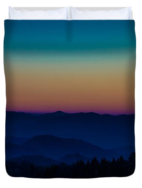 The Mountains Are Calling Duvet Cover by Cathy Donohoue