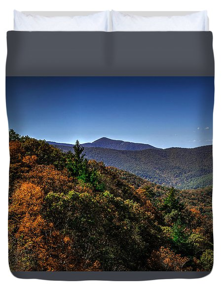The Mountains Win Again Duvet Cover