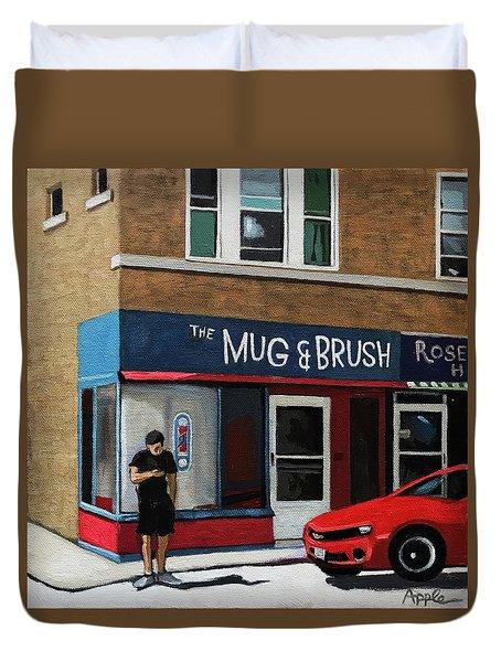 The Mug And Brush - Urban Painting Duvet Cover