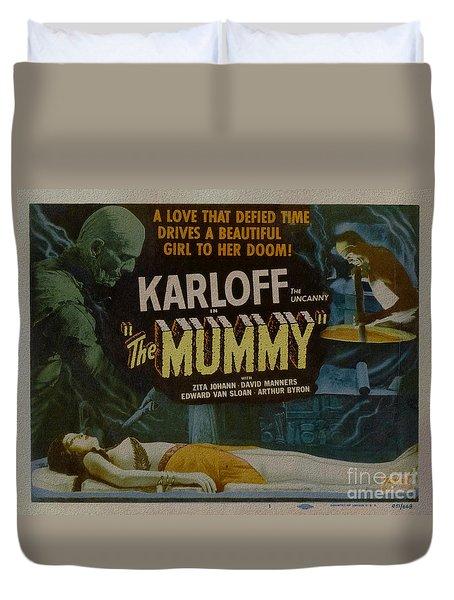 The Mummy 1929 Poster Boris Karloff Duvet Cover