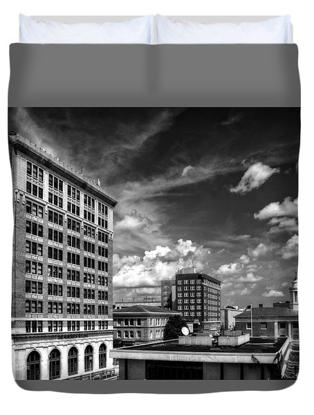 The Murchison Building In Black And White Duvet Cover by Greg Mimbs