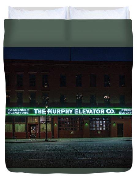 Duvet Cover featuring the photograph The Murphy Elevator Company by Randy Scherkenbach