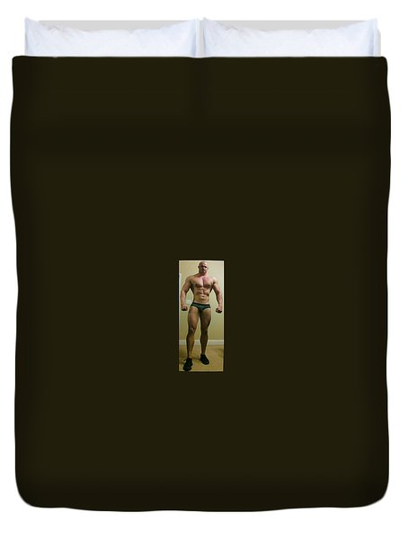 Duvet Cover featuring the photograph The Muscle by Jake Hartz
