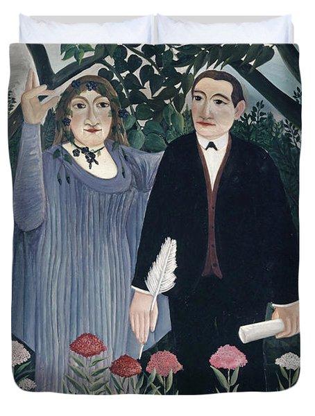The Muse Inspiring The Poet, 1909  Duvet Cover