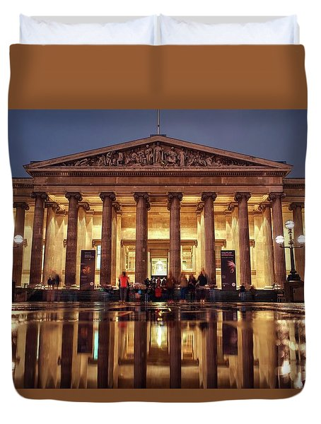 Duvet Cover featuring the photograph The Museum Is Now Closed by Quality HDR Photography