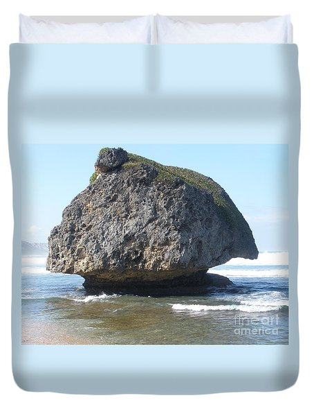 The Mushroom Rock Duvet Cover