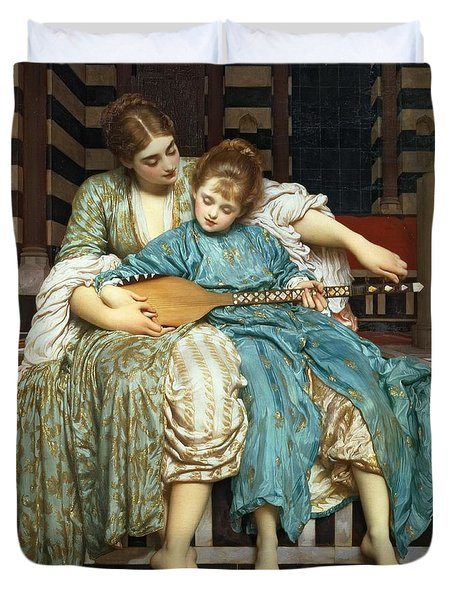 The Music Lesson Duvet Cover by Frederic Leighton