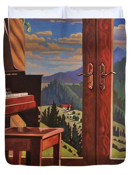 The Music Room Duvet Cover