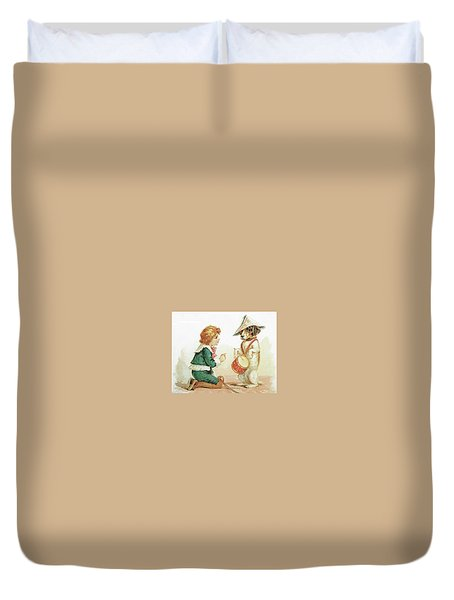 The Musical Pooch Duvet Cover by Reynold Jay