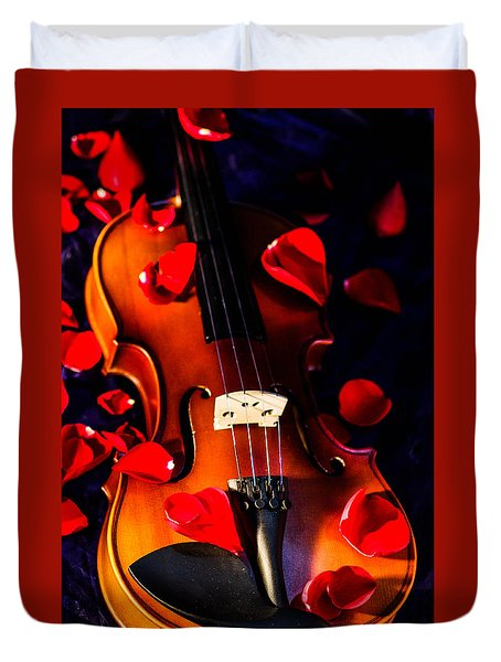 The Musical Rose Petals Duvet Cover