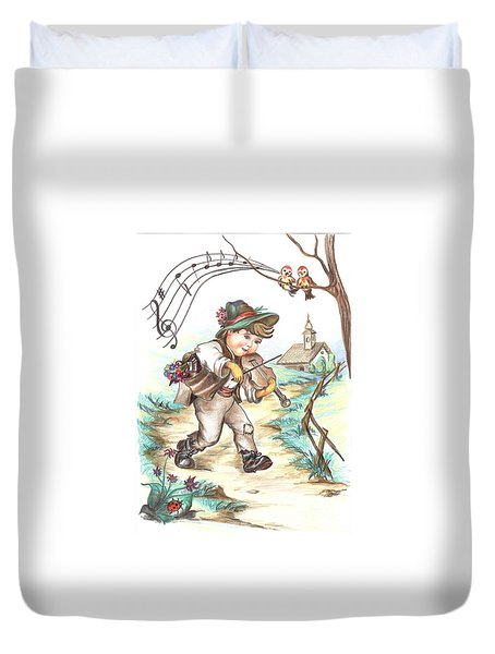 The Musician Duvet Cover