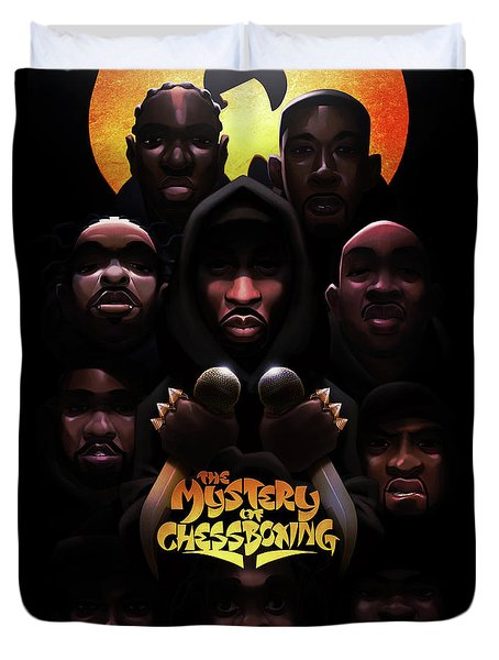 The Mystery Of Chessboxing Duvet Cover by Nelson dedosGarcia