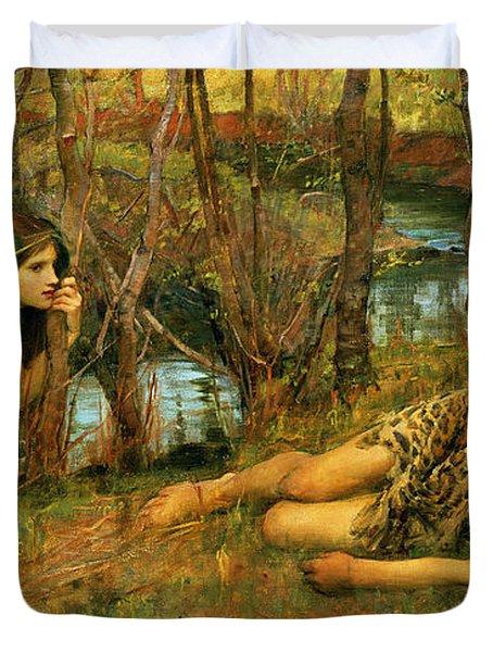 The Naiad Duvet Cover by John William Waterhouse