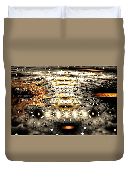 Duvet Cover featuring the digital art The Name Of Power by Michal Dunaj