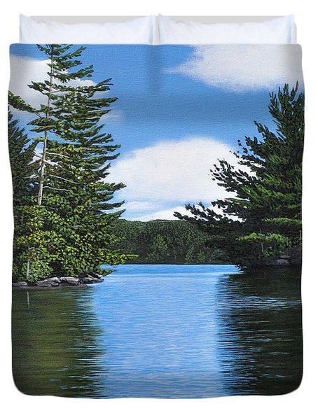 The Narrows Of Muskoka Duvet Cover