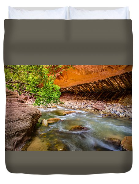 The Narrows Zion National Park Duvet Cover