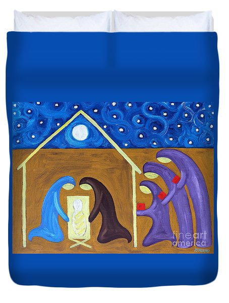 The Nativity Duvet Cover by Patrick J Murphy