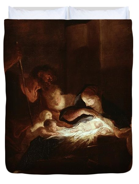 The Nativity Duvet Cover by Pierre Louis Cretey or Cretet