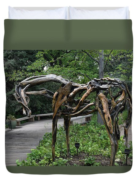 The Nature Of Horses Duvet Cover