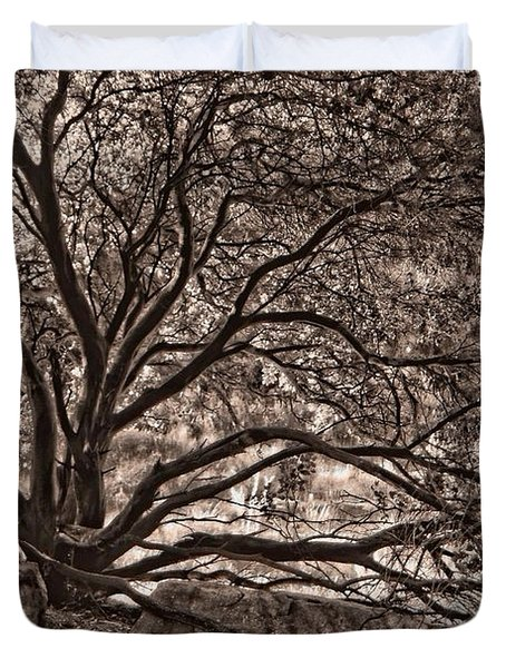 The Nature Of Trees In Sepia Duvet Cover