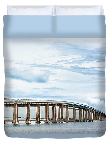 Duvet Cover featuring the photograph The Navarre Bridge by Shelby Young