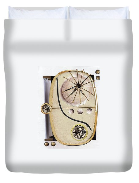 Duvet Cover featuring the painting The Navigator by Michal Mitak Mahgerefteh
